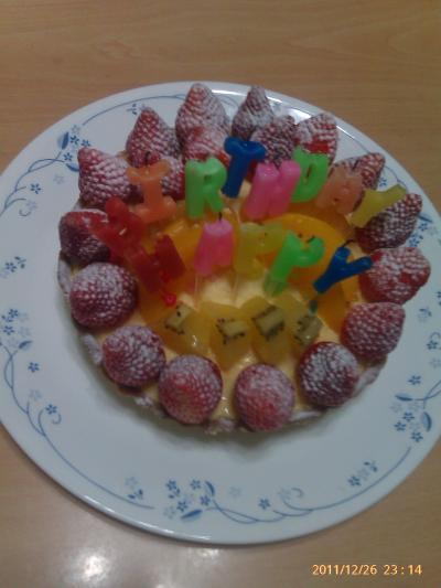 君ちゃん、誕生日ケーキ