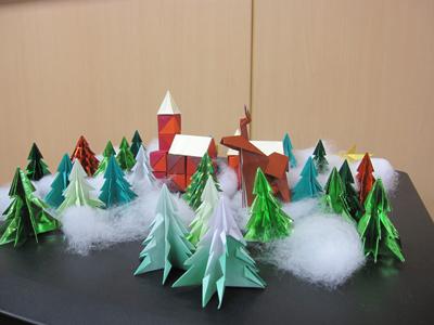 クリスマス 折り紙:折り紙 ツリー-kaorinpap.blog.fc2.com