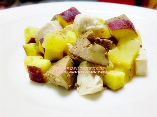鶏レバーのりんご煮♪