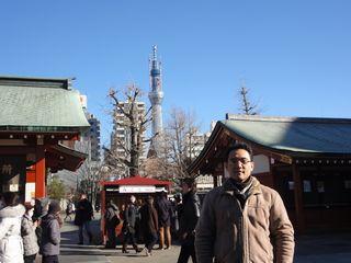 浅草寺からスカイツリー