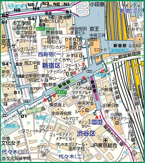 都営新宿線の地図