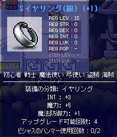 Sイヤリング(銀)