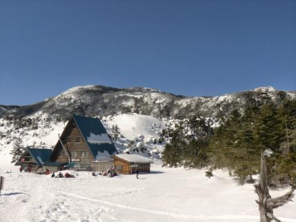 縞枯山荘と北横岳