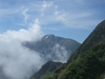 五竜岳が姿を見せてくれた