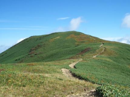 牛ヶ岳への道