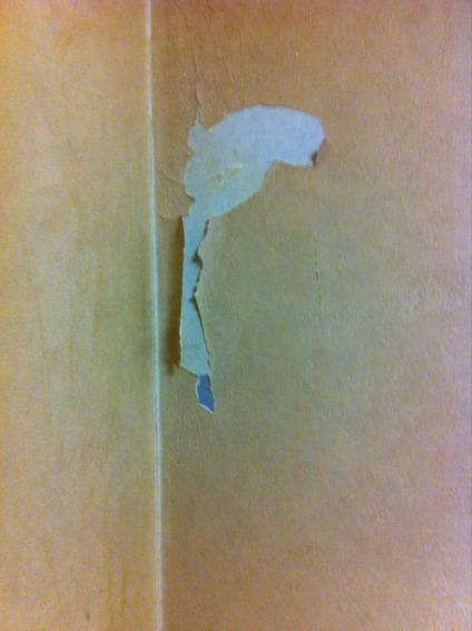 きれいに破けた壁紙