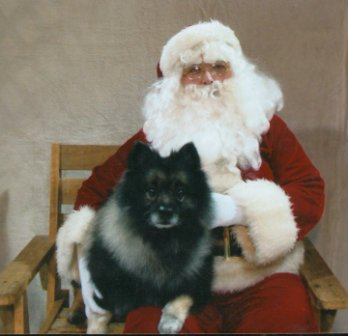 Cooper with Santa