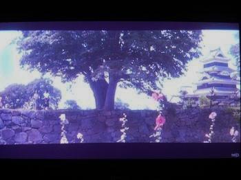 松本城の前を歩く芦川いづみ