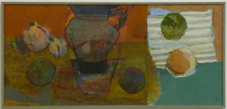 荒木亨子「花瓶と果実」