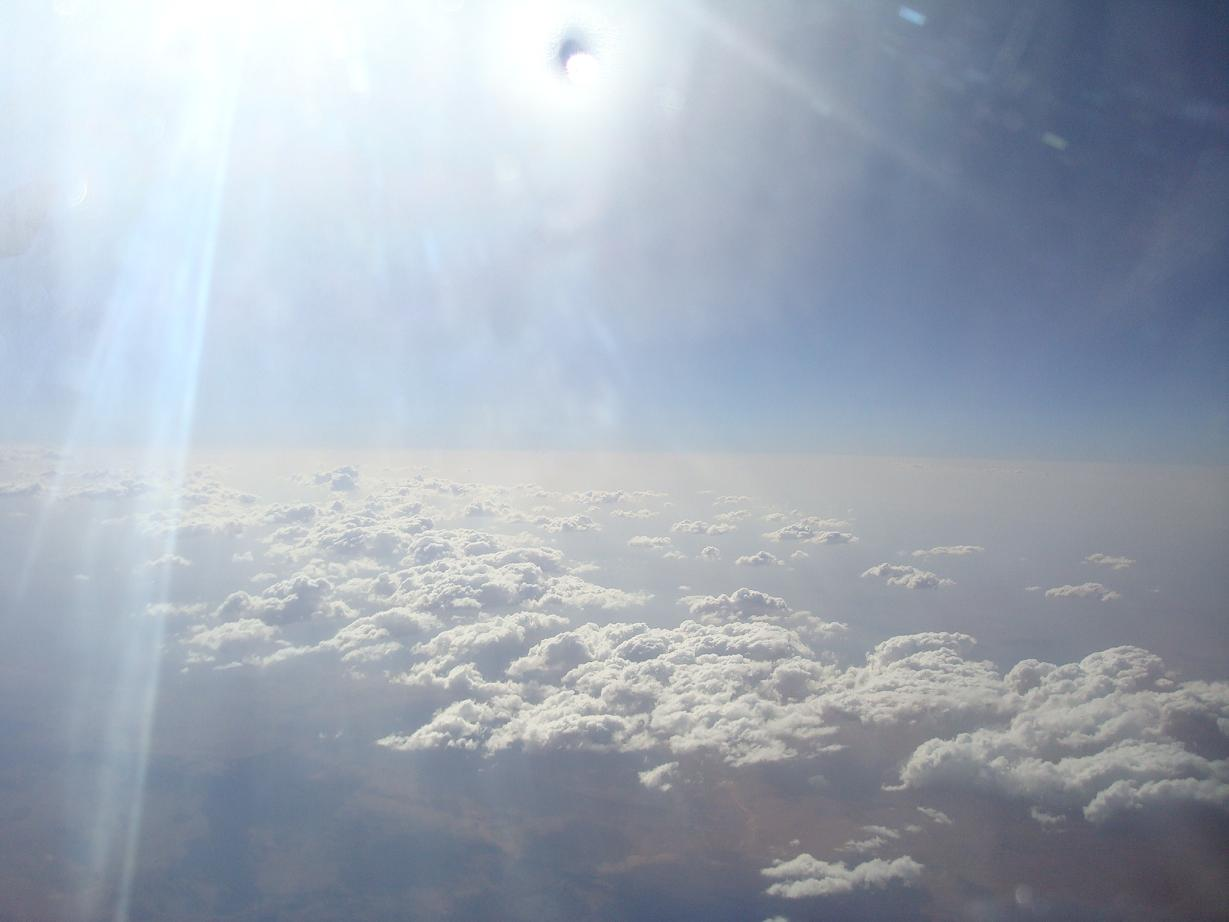 アフリカ上空