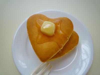 ハートホットケーキ
