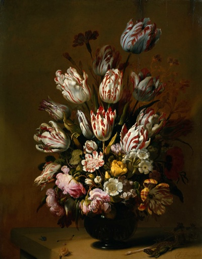 Натюрморт с цветами, Hans Bollongier, 1639