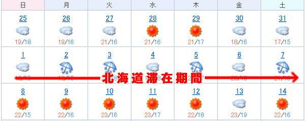 北海道天気