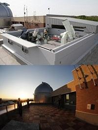 名寄天文台屋上観測室
