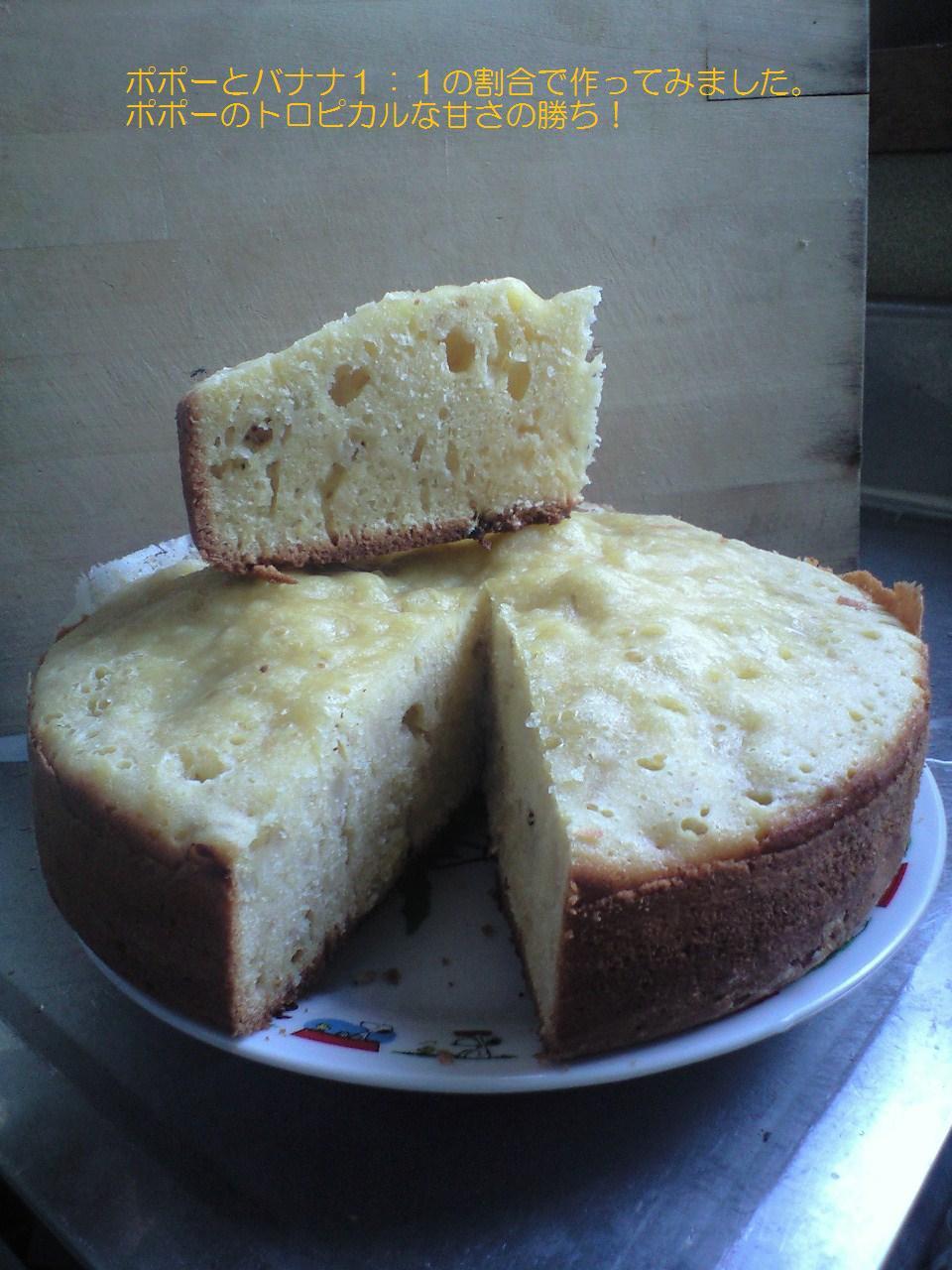 ポポーケーキの断面図