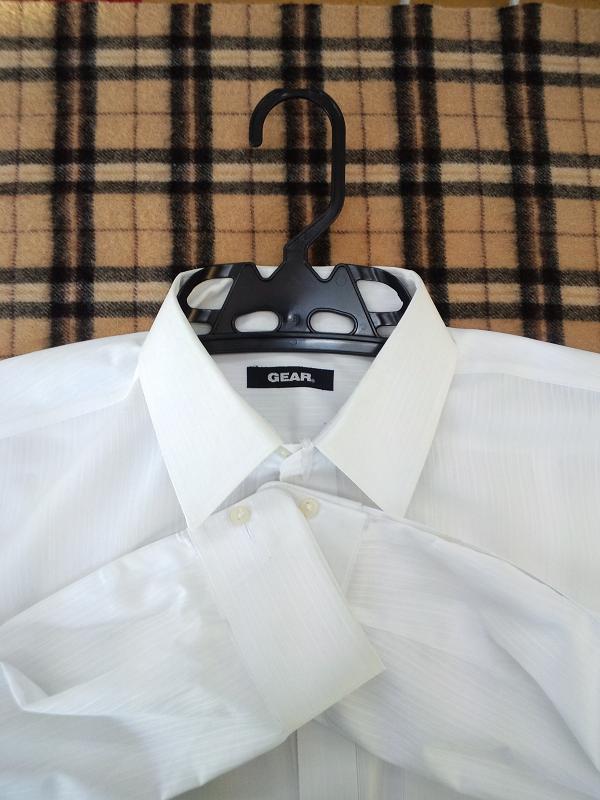 ワイシャツ 白しま