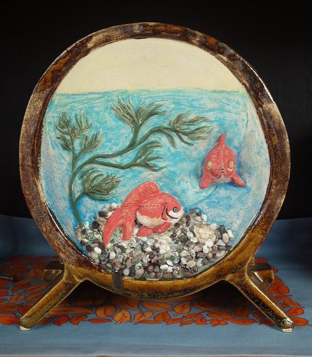 江戸風金魚鉢 花器 (5)