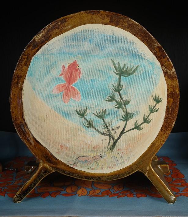 江戸風金魚鉢 花器