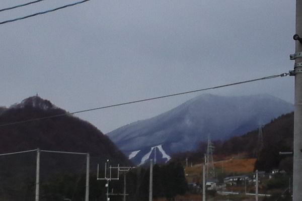 初雪の翌日