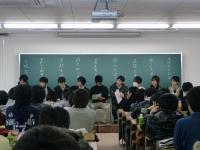 パネルディスカッションで並ぶ各校の代表