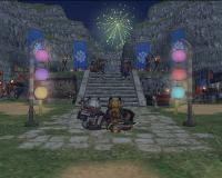 広場で花火2-1