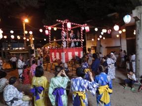 明日から3日間 夢広場で盆踊り☆