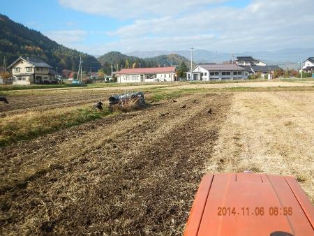 田んぼの耕起 (3)