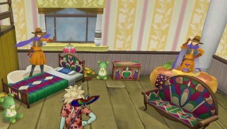 色飾りの家具
