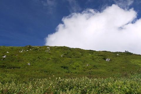 20伊吹山16青空と雲