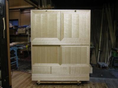 無垢桐たんす、(桐戸棚)、幅4尺(1200mm)、木地