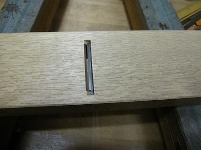 仕込む前の鉋台と鉋刃
