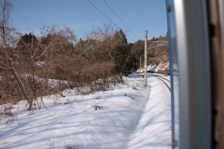 羽越本線2012-12-29 キハ47沿線