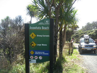 Anawhata sign