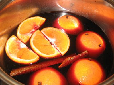 ワイン&オレンジ