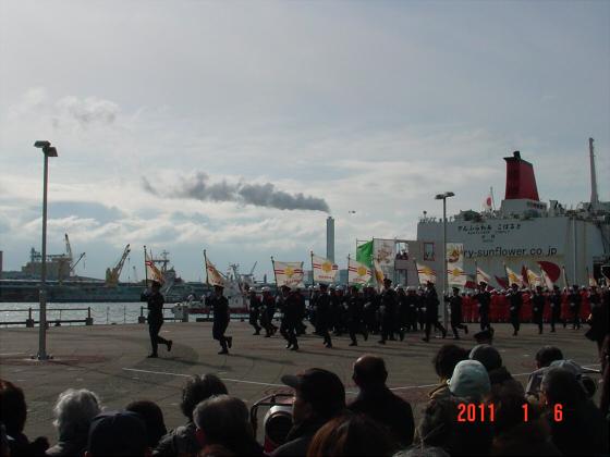 1月頭の消防隊出初式01