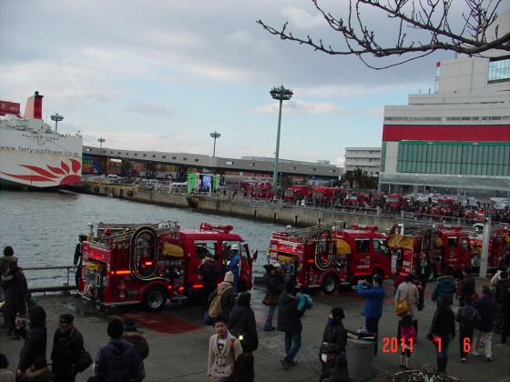 1月頭の消防隊出初式10