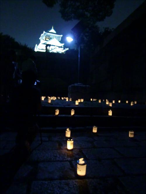 大阪城城灯りの景11-01