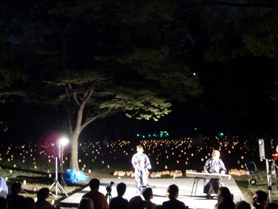 大阪城城灯りの景11-03