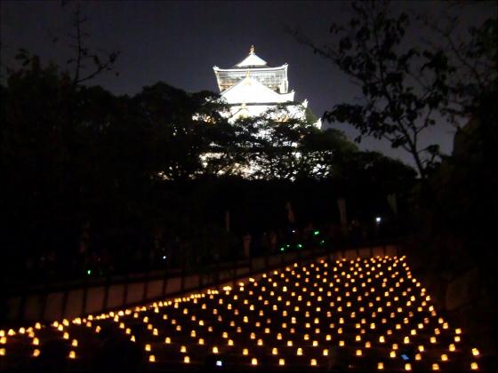 大阪城城灯りの景11-05