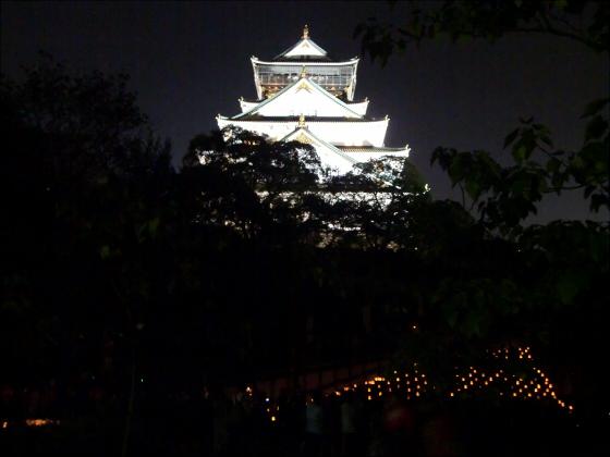 大阪城城灯りの景11-06