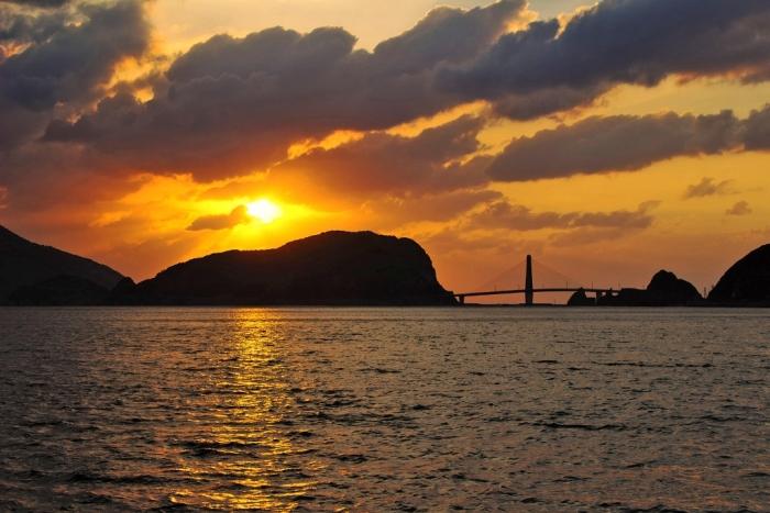 しぐれ日夕陽