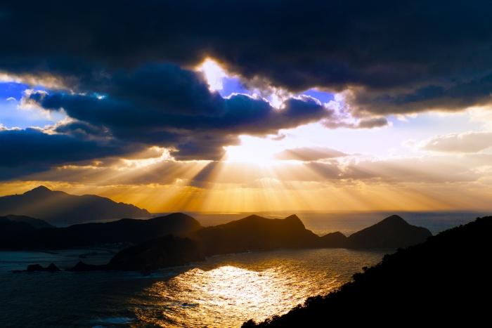 鹿島に沈む夕陽