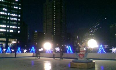 中之島アイススケート夜