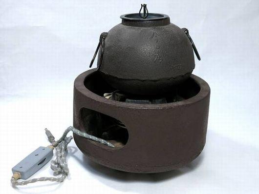 茶道具 風炉釜 今日庵 野々田電熱器