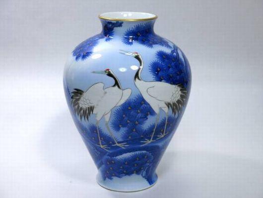 オールド香蘭社 謹製 中花瓶