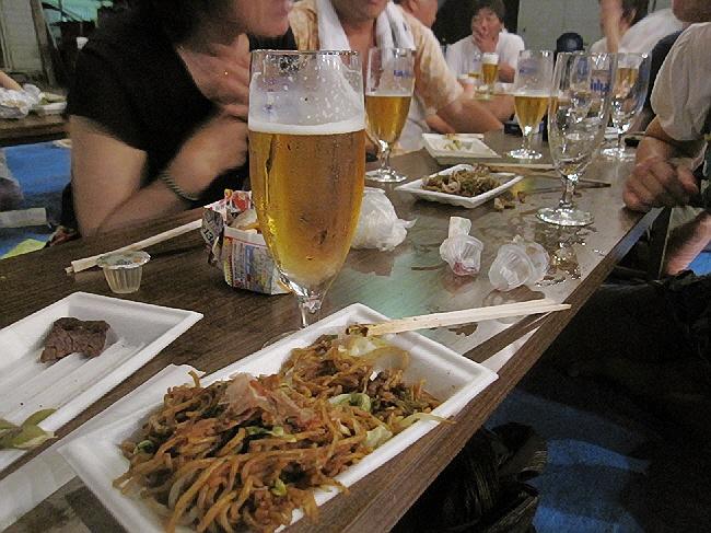 生ビール祭り@原酒店裏の公園♪