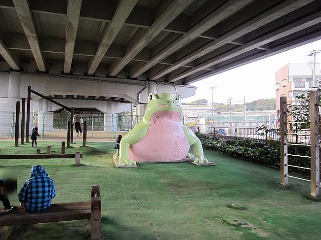 まーると『カエルの公園』へ行った。(^^♪