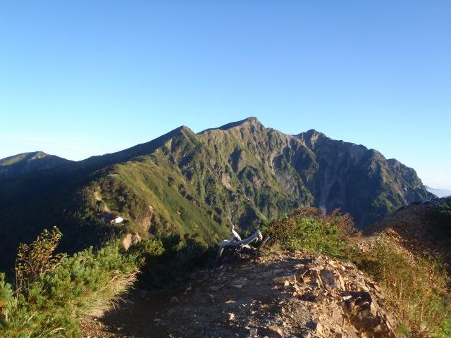 冷池山荘と鹿島槍ヶ岳