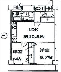 コートハウス東品川204号間取り図_R