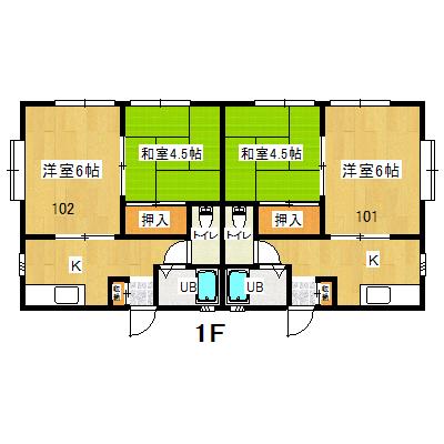 東金アパート1F101.102